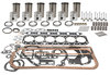photo of Tru Power Engine Kit. 6-Cylinder Perkins Diesel, 354 CID. 3.875 inch standard bore. Head gasket replaces MF\Perkins number 36812547 and number 36812535, valve cover uses 14 bolts, 2-piece rope-type rear seal. Complete Engine Kit, less bearings. Contains sleeves and sleeve seals, pistons and rings, pins and retainers, pin bushings, complete gasket set, crankshaft seals, intake valves and seals, exhaust valves, valve retainers, springs, guides. For MF1100 series.