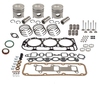 photo of 158 CID 3 cylinder diesel 4.2  standard bore. Engine overhaul kit. Contains .030  oversize pistons, rings, complete gasket kit, pin bushings, cam bearings, intake & exhaust valves, springs, valve keys. For 2000.