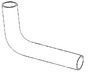 photo of Hose, Radiator Upper. For 5640, 6640, 7740.
