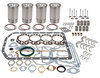 photo of Complete Overhaul Kit. For tractor models Major, Super Major with 1.375 inch wrist pins, 4.622 inch sleeve flange outside diameter and 3-15\16 inch bore size. Contains overhaul gasket set, rod bearings (STD, .010 inch, .020 inch and .030 inch). Main bearings (STD, .010 inch, .020 inch and .030 inch), valves, valve guides, valve springs, and sleeve, pistons, sleeve seals (1 per sleeve), rings, pins and retainers.