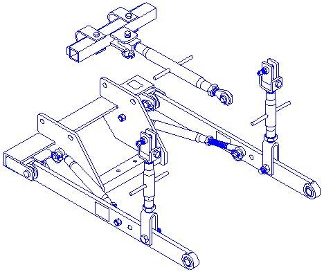 Allis Chalmers Wd45 3 Point Conversion Kit