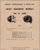Farmall H Magneto, Wico XH & XHD, Service & Parts Manual