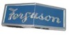photo of For tractor models TO20, TE20, TEA20, TO30. Front Hood Emblem. Chrome with blue background  Ferguson-Rectangle .