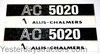 photo of Decal Set for Allis Chalmers Model 5020. Hood Decal Only.