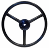 photo of 13  diameter, 11\16  splined hub, 3 covered spokes. For Garden tractor Models: 110, 112. Replaces OEM# M43800, M42321, M83501