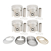 photo of New Pistons, Pins, Retainers and Rings for C157 Gas Engine. 3.375 + 0.040 inch overbore. Used in 2400A, 2400B, 2405B, 2410B, 2412B, 4500, 454