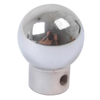 photo of Gear shift knob, chrome. For TE20, TEA20, TEF20. Chrome finish. Measures .430 inch hole inside diameter and 1.298 inch overall length. The knob outside diameter measures 0.975 inch. This knob has a .159 inch roll pin hole. Replaces 180006M91.