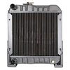 photo of This radiator fits the Ford 1110. The core measures 10 1\4 inches high, 11 3\8 inches wide, and 1 1\4 inches deep. Replaces part number SBA310020020.