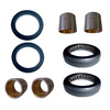photo of This Spindle Bushing, Bearing and Seal Kit contains: 2 - C5NN3109A (1 5\8  X 2  X 1 7\8 ) Bushings, 2 - C5NN3110A (1 3\4  X 2  X 1 7\8 ) Bushings, 2 C0NN3A299A (2  ID X 2 7\8  OD) Thrust Bearings, 2 - C0NN3A208A (1 1\2  X 2  X 1\4 ) Dust Seals. Used on Ford New Holland 5000, 5100, 5110, 5200, 5600, 6410, 6600, 6610, 6810, 7000, 7100, 7200, 7600, 7610