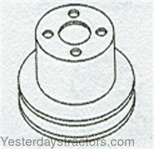 Oliver 66 Water Pump Pulley 102221A