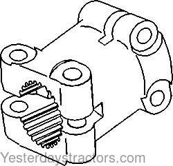 Oliver 1900 Clutch Shaft Coupler 104834A