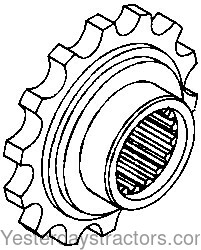 Oliver 1755 Coupler Sprocket 107415A