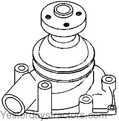 Oliver 1800 Water Pump 157324AS