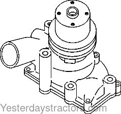 Oliver White 2 78 Water Pump 159925AS
