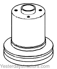 Oliver 1555 Water Pump Pulley 160926A