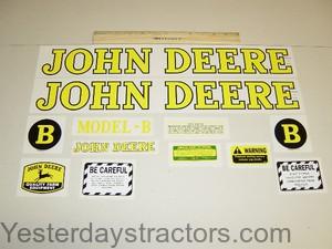 B Styled 1939 to 1946 John Deere B Mylar Decal Set
