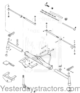 Farmall Super M_Front Axle Assembly Wide Without Hubs_21019