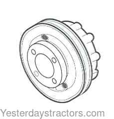 Oliver 1250A Crankshaft Pulley 30-3014193