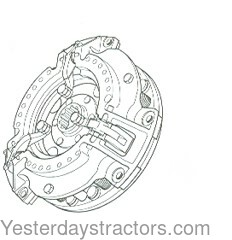 Massey Ferguson 2135 Clutch Assembly 526666M91