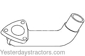 Allis Chalmers 5040 Exhaust Elbow 72091261