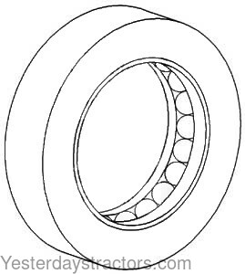 Allis Chalmers 6140 Spindle Thrust Bearing 72099508