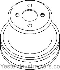 74513381 Water Pump Pulley 74513381