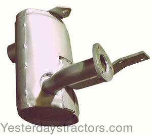 Ford 555C Muffler with Bracket 85999357