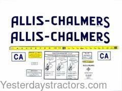 Allis Chalmers CA Decal Set ACCA