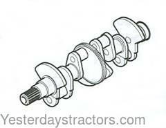 Ford Crankshaft, 4 cyl, Diesel