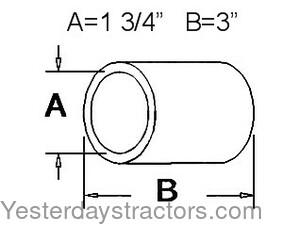 radiator hose  for farmall 140, 300b, 320b, 350, 400b, 500b, 600b tractors