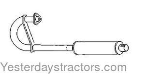 Massey Ferguson Black Tractor Muffler 181867M91 MF 35, 135, 20, 35, 202, 203, 204, 205, TE20, TO30, TO35
