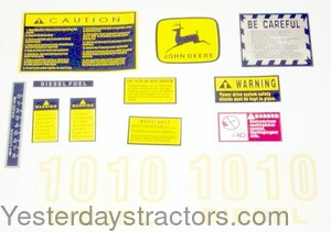 John Deere 1010 Decal Set R3745