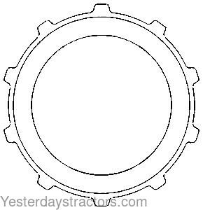 discount tractor parts and manuals for older and antique tractors John Deere 185 Belt Diagram part no t28665 48 80