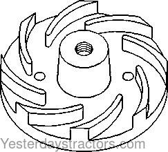 John Deere 2120_Water Pump Impellor_T30897