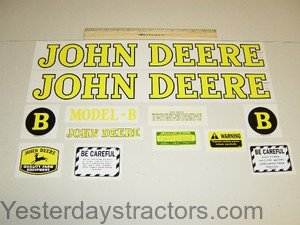 John Deere B Decal Set R1902