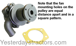 Massey Ferguson 2135 Water Pump - With Pulley 3641823M91