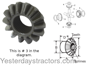 Massey Ferguson 165 Differential Gear 885518M1